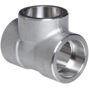 1-1/2 x 1-1/2 x 1 in. Socket 3000# 316L Stainless Steel Reducing Tee IS6L3STJJG