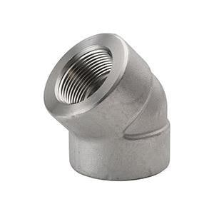 Threaded 3000# 316L Stainless Steel 45 Degree Elbow IS6L3T4E
