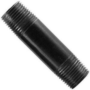 3 x 7-3/4 in. Black Epoxy Coated Carbon Steel Nipple BNEM734