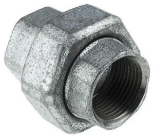 3/4 in. 250# Ground Joint Black Malleable Iron Union with Brass Seat IBLF250UF