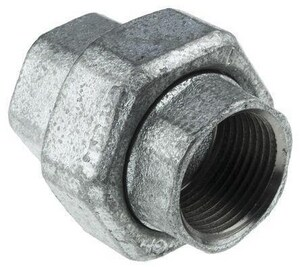 2-1/2 in. 250# Ground Joint Black Malleable Iron Union IBLF250UL