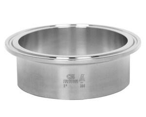 2 in. Clamp x Butt Weld 304L Stainless Steel Long Ferrule GL14AM74K