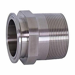 2 in. Clamp x MPT 304L Stainless Steel Adapter G21MP74K