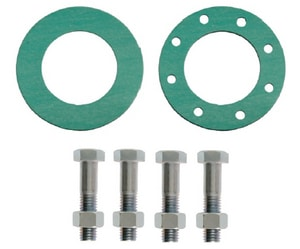 Carson's Nut-Bolt & Tool 3 x 1/16 in. 150# Red Rubber Bolt and Full Face Gasket Set BGSRR150FF116M
