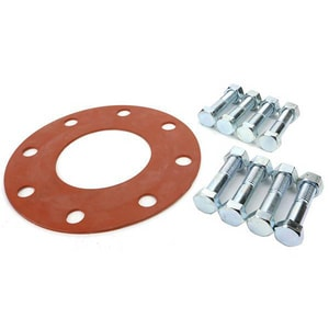 Carson's Nut-Bolt & Tool 4 x 1/8 in. 150 psi Red Rubber Plated Ring Gasket Set PBGSRR150R18P