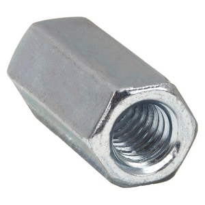 Carson's Nut-Bolt & Tool 1/4 x 1/4 in. Galvanized Steel Rod Coupling GRODC
