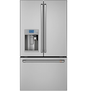 GE Appliances CAFE™ 35-3/4 in. 22.2 cf Counter Depth French Door Refrigerator in Stainless Steel GCYE22UP2MS1