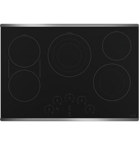 GE Appliances Cafe™ 29-7/8 in. 5-Burner 5-Element Smoothtop Cooktop in Stainless Steel GCEP90302NSS