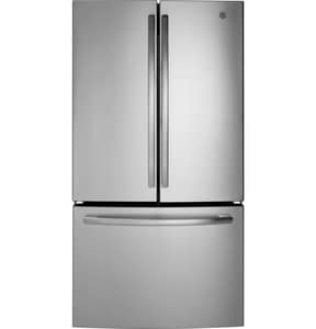 GE Appliances 69-7/8 x 35-3/4 in. 27 cf Freestanding French Door Refrigerator in Stainless Steel GGNE27JSMSS