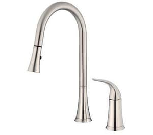 Danze Antioch™ 2-Hole Pull-Down Kitchen Faucet with Single Lever Handle in Stainless Steel DD459022SS