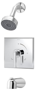 Symmons Industries Duro® 2-Hole Tub and Shower Trim with 1-Function Showerhead, Pressure Balancing Rough-In Valve and Single Lever Handle in Polished Chrome SYM3602