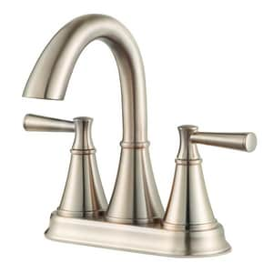 Pfister Cantara™ Two Handle Centerset Bathroom Sink Faucet in Brushed Nickel PLF048CRKK