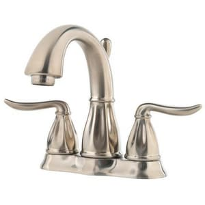 Pfister Sedona™ 1.2 gpm 3-Hole Deck Mount Centerset Lavatory Faucet with Double Lever Handle in Brushed Nickel PLF048LT0K