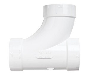 Broan Central Vacuum 90 Degree Tee in White NCF383