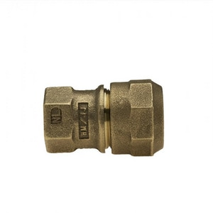 Mueller Company 1 x 3/4 in. Flared Threaded x CTS Compression Brass Reducing Coupling MH15071NGF