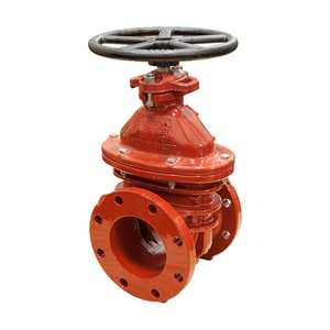 Mueller Company A-2361 Series Flanged Ductile Iron Open Left Resilient Wedge Gate Valve MA236106OL