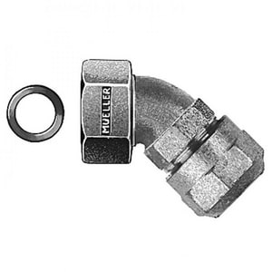 Mueller Company 1 in. Compression x Swivel Nut Brass Straight Coupling MH15075NG