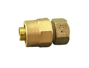 Mueller Company 3/4 in. Kitec x Solder Brass Straight Coupling MK15403NF