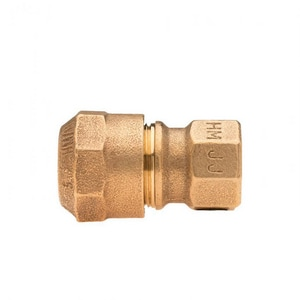 Mueller Company 3/4 in. CTS x FIP Brass Straight Coupling MP15451NF