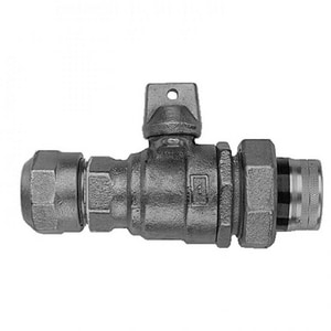 Mueller Company 1 in. CTS Compression x FIPT In-Line Ball Curb Valve MN35172NG