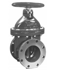 Mueller Company A-2360 Series 4 in. Flanged Cast Iron Open Left Resilient Wedge Gate Valve MA23606OLNP