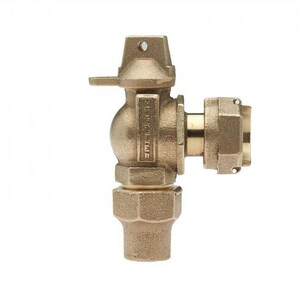 Mueller Company 3/4 in. Copper Flare x Meter Swivel Angle Ball Valve MB24255RNF