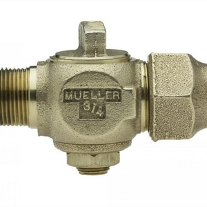 Mueller Company 3/4 x 3/4 in. IPT x Flared Brass Corporation Stop MH1502517NF