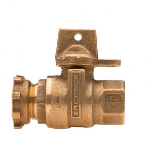 Mueller Company 5/8 x 3/4 in. Meter Inlet Ball Valve MB2436005NEF