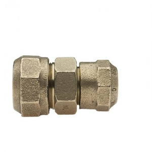 Mueller Company 1 in. Pack Joint x Compression Brass Straight Coupling MP15409NG