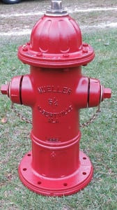 Mueller Company Super Centurion® Red 4 ft. 6 in. Mechanical Joint 6 in. Assembled Fire Hydrant MA423MJURLAWSSCR