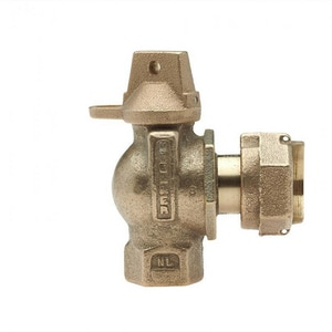 Mueller Company 1 in. FIP x Meter Swivel Brass Angle Ball Valve Curb Stop MB2426508NG