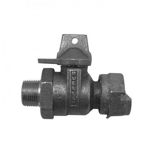 Mueller Company 1 in. MIP x Meter Swivel In-Line Ball Valve MB24394NG