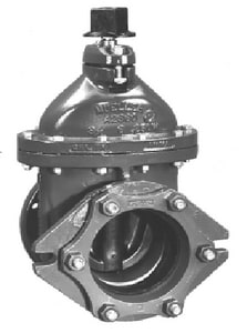 Mueller Company A-2360 Series 4 in. Mechanical Joint x Flanged Cast Iron Open Right Resilient Wedge Gate Valve MA236019OR