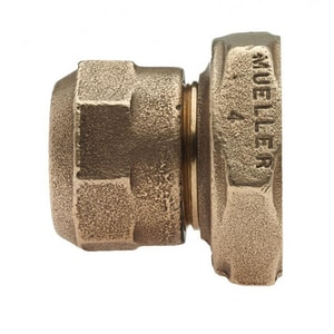 Mueller Company 3/4 in. CTS Compression Brass Straight Coupling MP15509NF