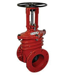 Mueller Company 2-1/2 in. Flanged Resilient Wedge Open Left Gate Valve with Outside Screw and Yoke MR23656OL