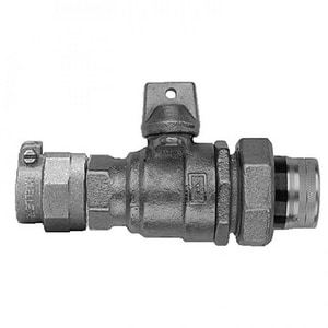 Mueller Company 1 in. CTS Pack Joint x FIPT In-Line Ball Curb Valve MP35172NG