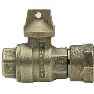 Mueller Company 1-1/2 in. CTS Pack Joint x FIPT In-Line Ball Curb Valve MP25172NJ