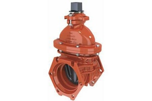 A-2360 Series 4 in. Mechanical Joint Cast Iron Open Left Resilient Wedge Gate Valve MP236023POL