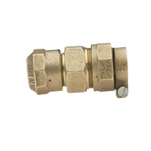 Mueller Company 3/4 in. CTS x IPS Brass Coupling MH15409NF