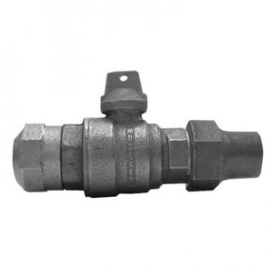 Mueller Company 1 in. Compression x Flared In-Line Ball Curb Valve MB25132NG