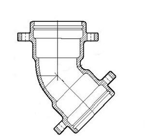 Mechanical Joint Cement Ductile Iron C153 Short Body Offset (Less Accessories) MJOLA18