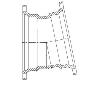 16 in. Mechanical Joint Ductile Iron C153 Short Body 11-1/4 Degree Bend MJEL1LA16