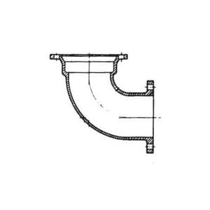 6 in. Mechanical Joint x Flared Ductile Iron C153 Short Body 90 Degree Bend MJELF9LAU