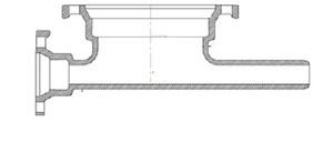 16 in. Union Tight Ductile Iron C153 Short Body Tee UTT16