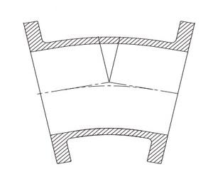 Tyler Union 3 in. Mechanical Joint Bituminous Tar Ductile Iron C110 Full Body 11-1/4 Degree Bend DFB1LA