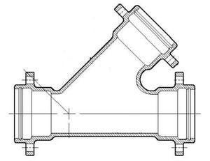 Flanged Ductile Iron C110 Full Body Wye FYPC