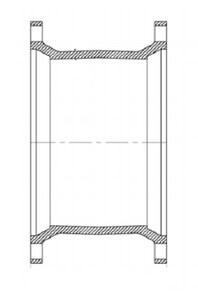 Tyler Union 10 x 7-1/2 in. Mechanical Joint Ductile Iron C153 Short Sleeve DMJELSSLA10712