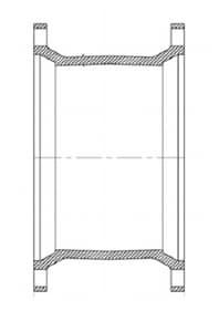 Mechanical Joint Ductile Iron C153 Short Sleeve MJELSSLA7