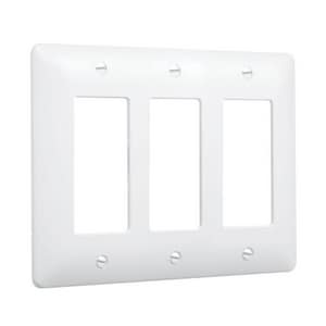 TayMac Masque® 3 Gang Switch Plate in White T5550W