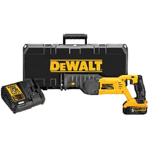 DEWALT Max® 20V 5A Lithium-Ion Cordless Reciprocating Saw Kit DDCS380P1 at Pollardwater
